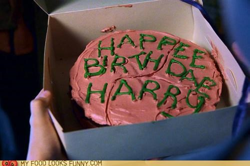 birthday cake Hagrid Harry Potter Movie