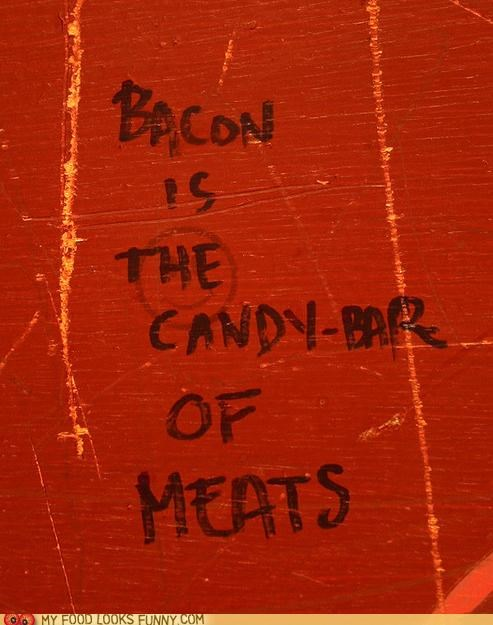 bacon,candy bar,graffiti,meat