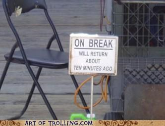 break,IRL,return,sign