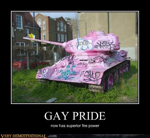 fire power gay pride hilarious tank