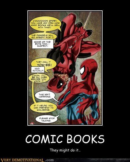 best of week comics deadpool kissing Spider-Man Super-Lols - 5180527872