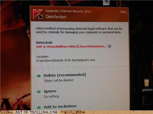 adware,IRL,not a virus,virus