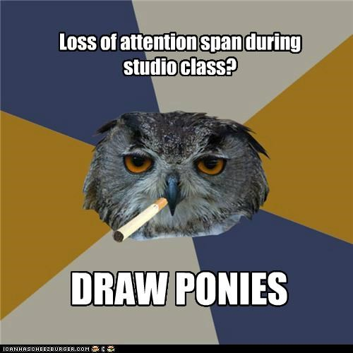 Loss of attention span during studio class? DRAW PONIES