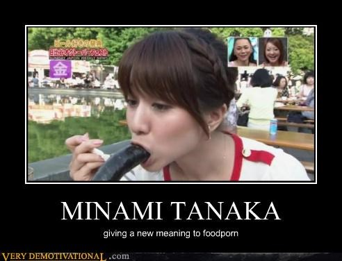 MINAMI TANAKA giving a new meaning to foodporn