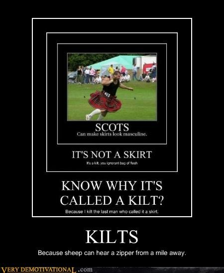 hilarious,kilts,sheep,zipper