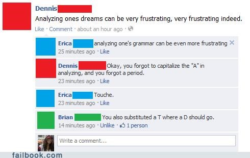 grammar,I see what you did there,spelling,witty reply