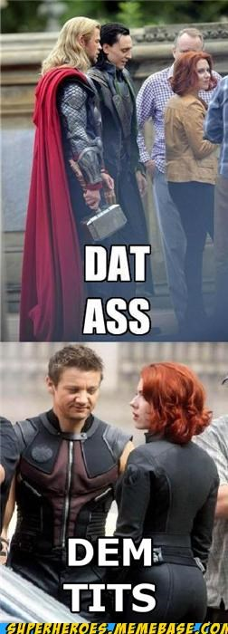 Black Widow dat ass hawkeye lady bags Movie Super-Lols Thor - 5181217024