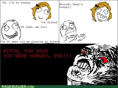 Awkward,friend,hungry,Rage Comics