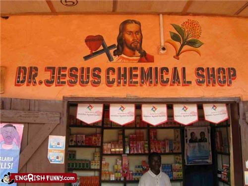 business christianity doctor drugs jesus sign store
