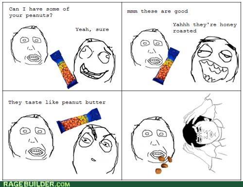 dumb peanut butter peanuts Rage Comics - 5181435392