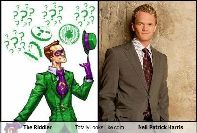 batman cartoons comic Hall of Fame high fives Neil Patrick Harris nph Riddler - 5181457408