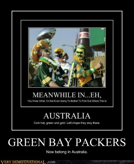 australia,green bay,hilarious,Meanwhile