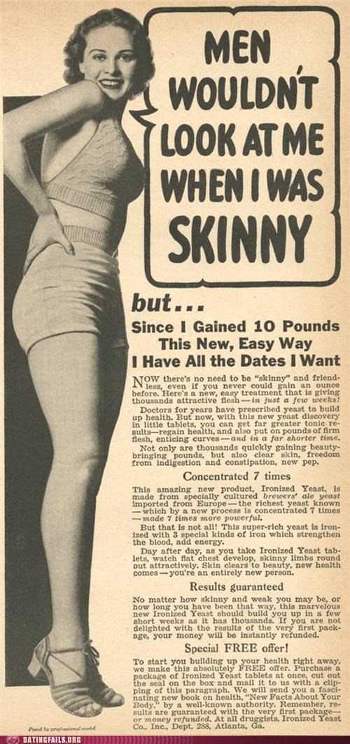 Ad,fat,skinny,vintage,We Are Dating,weight
