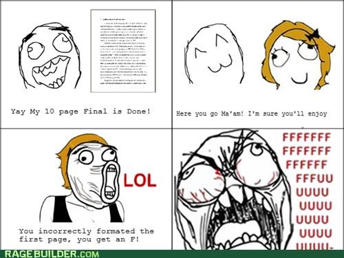 english,FAIL,formatting,paper,Rage Comics
