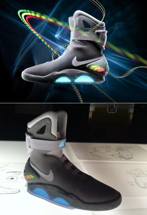 back to the future marty mcfly michael j fox Nike Air Mag Power Laces - 5182083840
