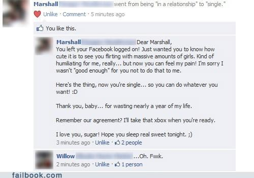 busted,Featured Fail,frape,oh snap,relationship status