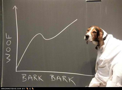 bark,bark bark,beagle,Chart,graph,lab coat,science,scientific findings,scientist,woof