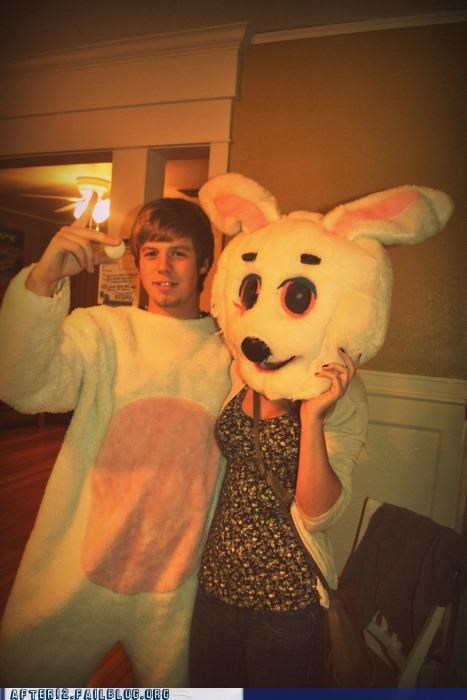 aw yeah,bunny,costume party,getting some,head,troll