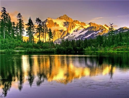 blue,getaways,gold,green,Hall of Fame,lake,mountain,mt-shuksan,north america,trees,united states,washington,water