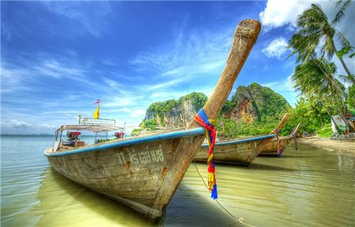 asia blue boats getaways ocean southeast asia thailand transportation water - 5182644224