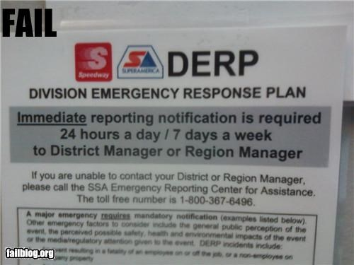 acronym derp failboat g rated Professional At Work signs - 5183023872