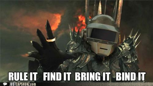 daft punk,Lord of the Rings,rings,sauron,Songs