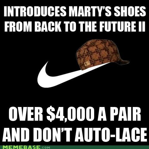 auto-lace back to the future just do it logo mcfly Memes movies nike