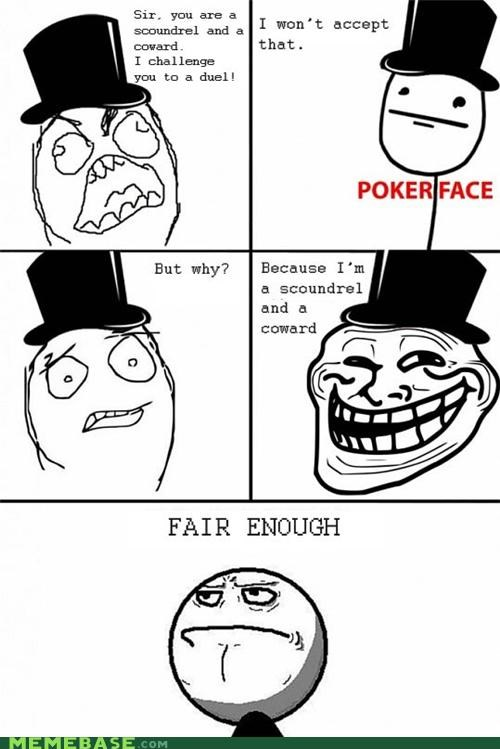 coward duel fair enough Rage Comics scoundrel - 5183736064