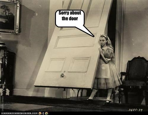 alice in wonderland,door,historic lols,oops,vintage