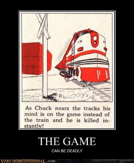 deadly,hilarious,the game,train