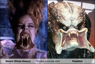 aleera,elena anaya,mouth,Predator,teeth