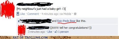 Awkward baby facebook pedobear