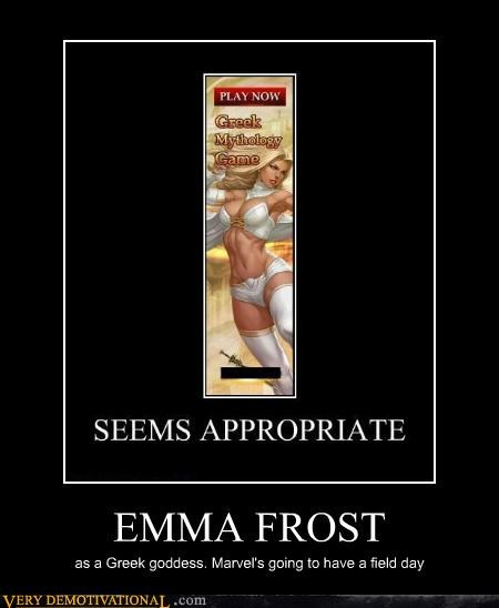 emma frost,greek mythology,hilarious,marvel,video game