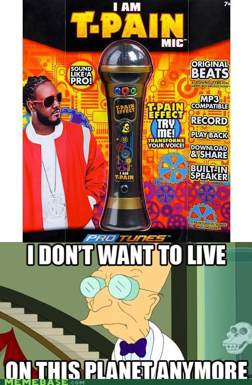 auto tune i dont want to live on this planet anymore microphone Rebecca Black toy t pain - 5184351744