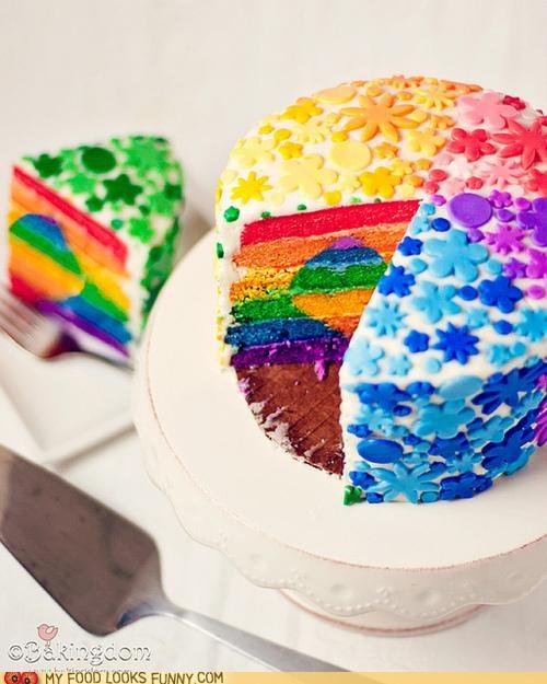 cake colors epicute flowers fondant heart sprinkles stripes - 5184414720