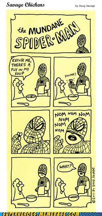 Awesome Art flies food Spider-Man - 5184515328
