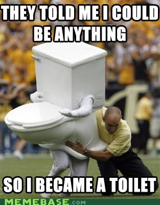 anything football mascot Memes referee sports tackle They Said toilet - 5184762112
