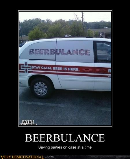 BEERBULANCE Saving parties on case at a time
