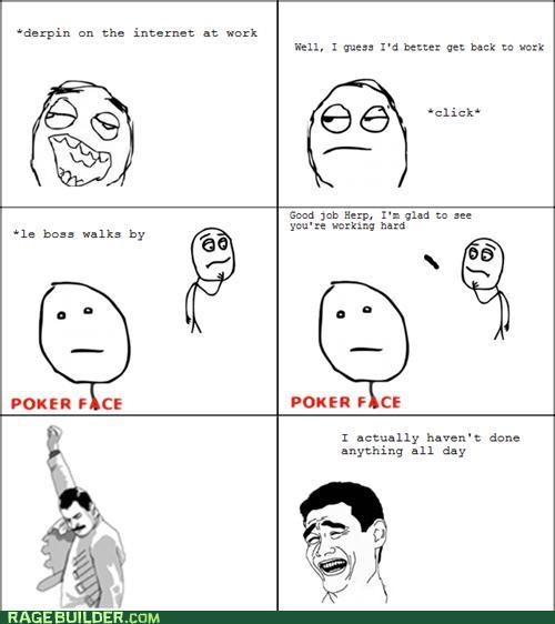 best of week,poker face,Rage Comics,work
