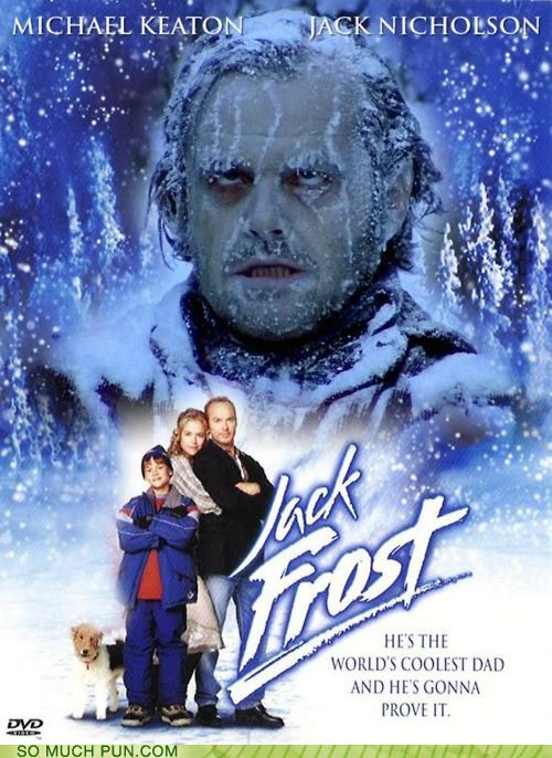 double meaning frost frostbite iconic jack frost jack nicholson juxtaposition literalism Movie poster scene shoop the shining