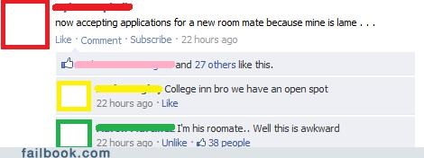 Awkward,roommate,your friends are laughing at you