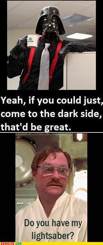 darth vader,Office Space,red stapler,star wars,stephen root