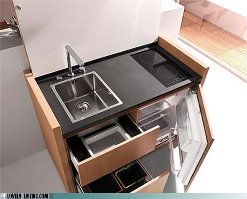 compact kitchen tiny
