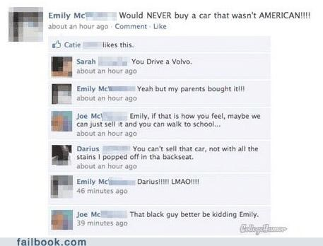 cars,facepalm,parents,racism,TMI