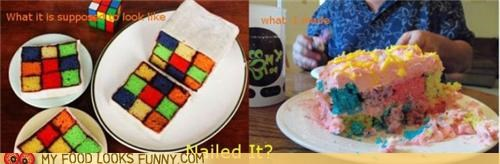 cake,expectations vs reality,Nailed It,rubix cube
