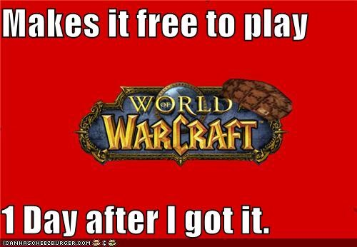 blizzard free Memes pay video games Warcraft world of WoW - 5185530624