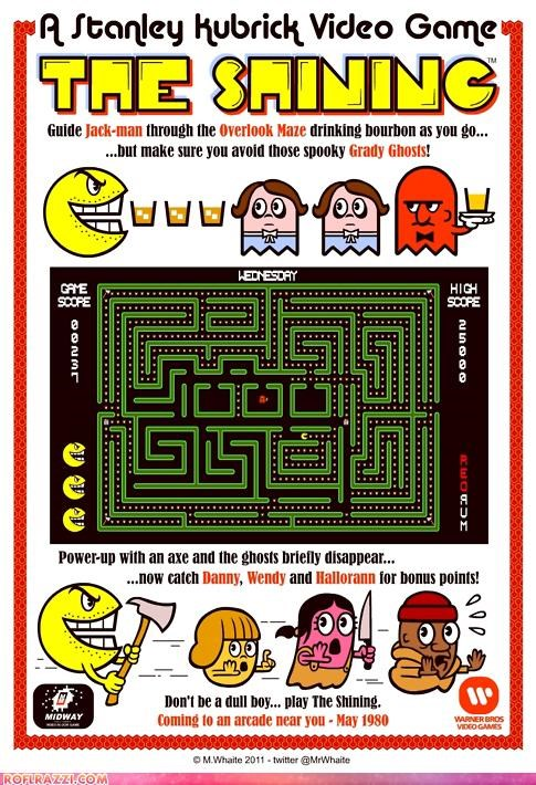 the shining,game,Hall of Fame,Movie,pac man