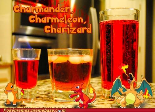 best of week charizard charmander charmeleon drinks fire types IRL monday cocktails shots