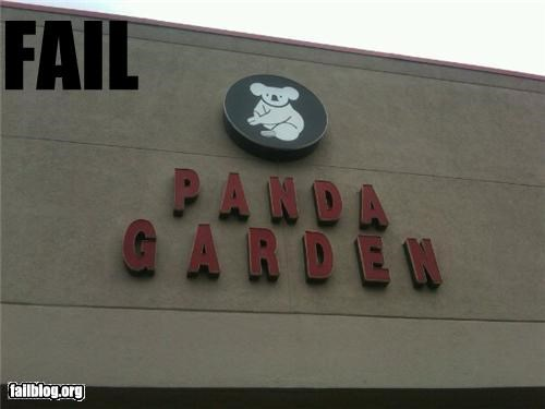 failboat,food,g rated,identification,koala,panda,restaurant,store name