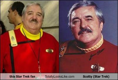 this Star Trek fan Totally Looks Like Scotty (Star Trek)